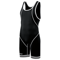 ASICS® Snap Down Wrestling Singlet - Men's - Black