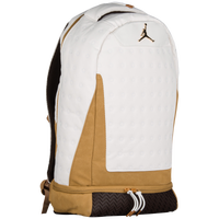 Jordan Retro 13 Backpack - White   Gold