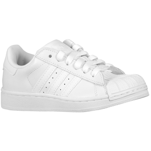 adidas Originals Superstar 2 - Boys' Preschool - Basketball - Shoes - White/ White/White