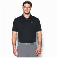 Under Armour Tech Golf Polo - Men's - Black / Grey