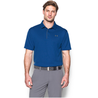 Under Armour Tech Golf Polo - Men's - Blue / Grey