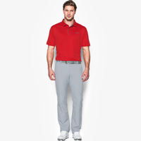 Under Armour Tech Golf Polo - Men's - Red / Grey