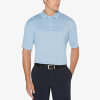 PGA Tour Feeder Stripe Golf Polo - Men's - Light Blue