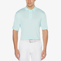 PGA Tour Feeder Stripe Golf Polo - Men's - Aqua