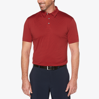 PGA Tour Feeder Stripe Golf Polo - Men's - Cardinal