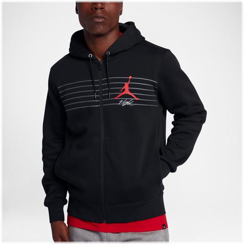 e60e1b9afc55b8 ... Jordan Flight Graphic Fleece Full Zip Hoodie - Mens - Black Grey Mens  Air ...
