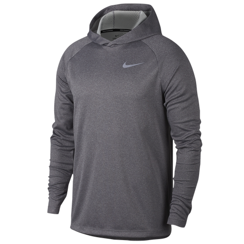 Nike Dry Running Hoodie - Men's Running - Dark Grey Heather/Heather 91701036