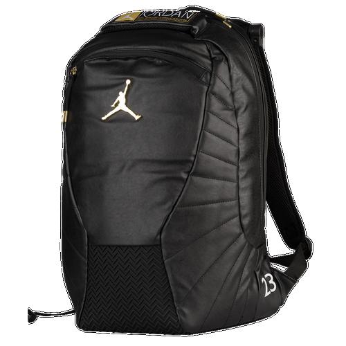 5e8c8f0ac7b Jordan Retro 12 Backpack - Basketball - Accessories - Black/Metallic  Gold/White