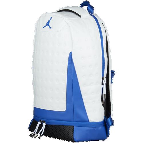 Jordan Retro 13 Backpack - Basketball - Accessories - White Hyper Royal