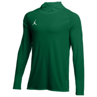 Jordan Team 23 Alpha L/S Hooded Top - Men's - Dark Green