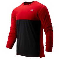 New Balance Accelerate Long Sleeve T-Shirt - Men's - Red / Black