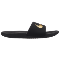 Nike Kawa Slide - Boys' Preschool - Black / Gold