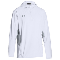 Under Armour Team Squad Woven 1/4 Zip Jacket - Men's - White / Grey
