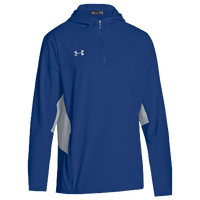 Under Armour Team Squad Woven 1/4 Zip Jacket - Men's - Blue / Grey