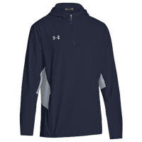 Under Armour Team Squad Woven 1/4 Zip Jacket - Men's - Navy / Grey
