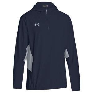 Under Armour Team Squad Woven 1/4 Zip Jacket - Men's - Midnight Navy/Steel