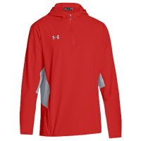 Under Armour Team Squad Woven 1/4 Zip Jacket - Men's - Red / Grey