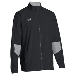 Under Armour Team Squad Woven Warm Up Jacket - Men's - Black/Steel