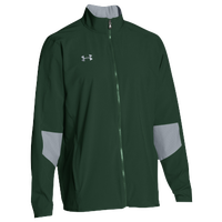 Under Armour Team Squad Woven Warm Up Jacket - Men's - Dark Green / Grey