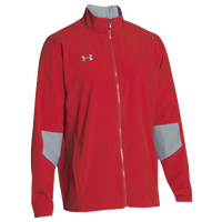 Under Armour Team Squad Woven Warm Up Jacket - Men's - Red / Grey