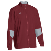 Under Armour Team Squad Woven Warm Up Jacket - Men's - Cardinal / Grey