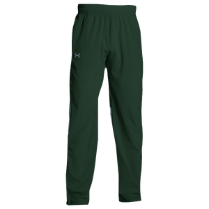 Under Armour Team Squad Woven Warm Up Pants - Men's - Forest Green/Steel