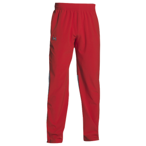 Under Armour Team Squad Woven Warm Up Pants - Men's - Red/Steel