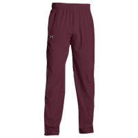 Under Armour Team Squad Woven Warm Up Pants - Men's - Maroon / Maroon