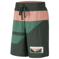 Nike Flight Shorts - Men's - Olive Green / Pink