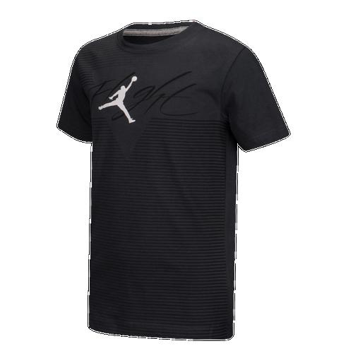 9f1525f8bdc Jordan Flight Diagonal T-Shirt - Boys' Grade School - Basketball - Clothing  - Anthracite/White/Black