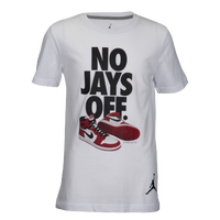 0a8e84cec44 Jordan No Jays Off T-Shirt - Boys' Grade School - White / Black