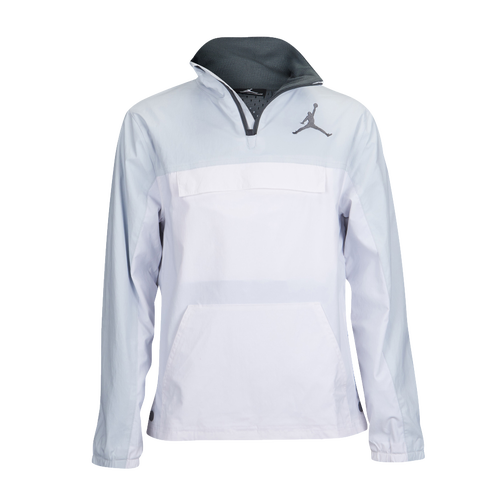 f650c9e6a286 Jordan 90 s Popover Jacket - Boys  Grade School - Basketball - Clothing -  Pure Platinum White Dark Grey