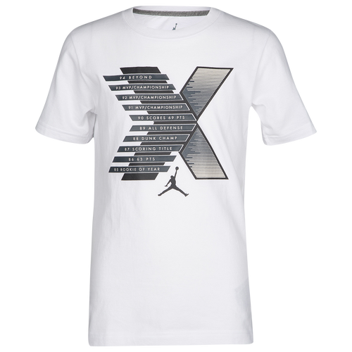 a9e430e710fc Jordan Retro 10 Stats T-Shirt - Boys  Grade School - Jordan - Basketball -  Black Desert Sand