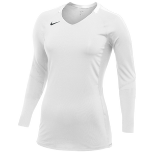 Nike Team Vapor Pro L/S Jersey - Women's - White/Black