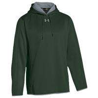 Under Armour Team Double Threat Fleece Hoodie - Men's - Dark Green / Grey