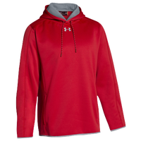 Under Armour Team Double Threat Fleece Hoodie - Men's - Red / Grey