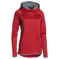 Under Armour Team Double Threat Fleece Hoodie - Women's - Red / Grey