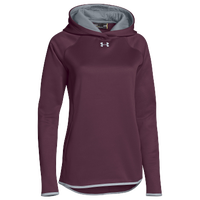 Under Armour Team Double Threat Fleece Hoodie - Women's - Maroon / Grey
