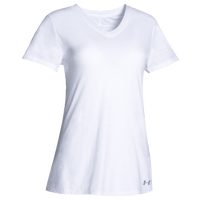 Under Armour Team Stadium Short Sleeve T-Shirt - Women's - All White / White