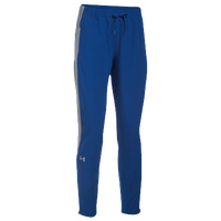 Under Armour Team Squad Woven Warm Up Pants - Women's - Blue / Grey