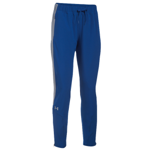 Under Armour Team Squad Woven Warm Up Pants - Women's - Royal/Steel