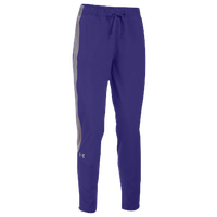 Under Armour Team Squad Woven Warm Up Pants - Women's - Purple / Grey