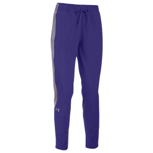 Under Armour Team Squad Woven Warm Up Pants - Women's - Purple/Steel