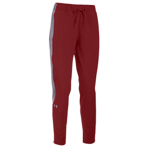 Under Armour Team Squad Woven Warm Up Pants - Women's - Cardinal/Steel