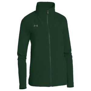 Under Armour Team Squad Woven Warm Up Jacket - Women's - Green/Steel