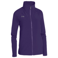 Under Armour Team Squad Woven Warm Up Jacket - Women's - Purple / Purple