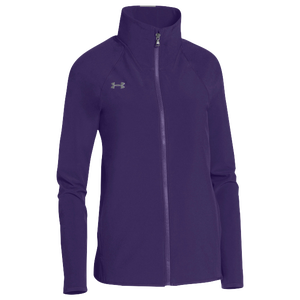 Under Armour Team Squad Woven Warm Up Jacket - Women's - Purple/Steel