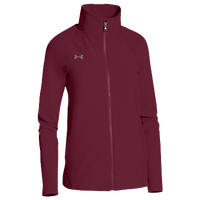 Under Armour Team Squad Woven Warm Up Jacket - Women's - Maroon / Maroon