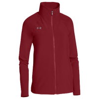 Under Armour Team Squad Woven Warm Up Jacket - Women's - Cardinal / Cardinal