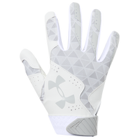 Under Armour Radar Fastpitch Batting Gloves - Women's - White / Silver